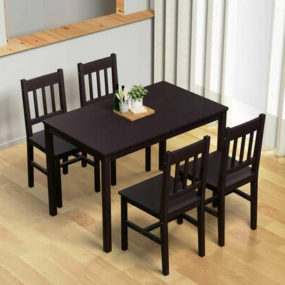 Sundberg 5 Piece Solid Wood Dining Sets Within Popular Red Barrel Studio Commodore Singh Modern And Contemporary 5 Piece (View 14 of 20)