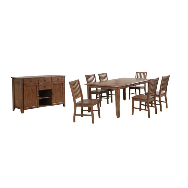 Tamarack 7 Piece Counter Height Dining Setred Barrel Studio 2019 Regarding Most Up To Date Hanska Wooden 5 Piece Counter Height Dining Table Sets (Set Of 5) (View 17 of 20)