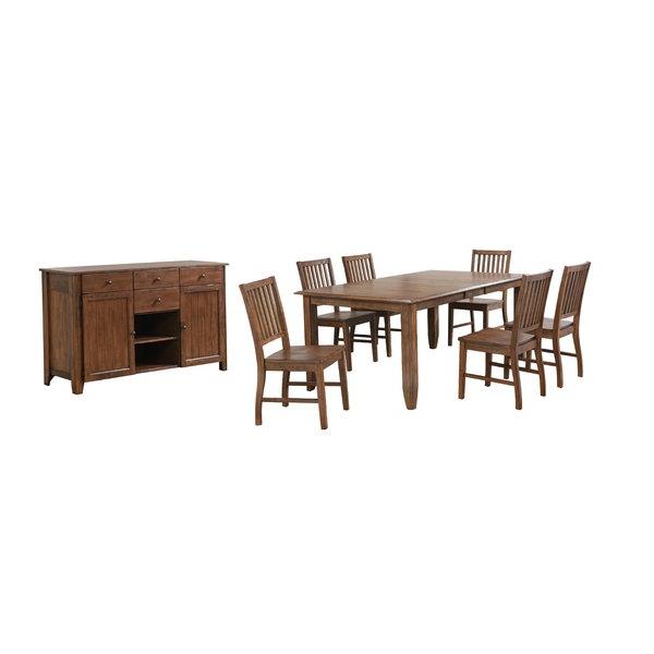 Tamarack 7 Piece Counter Height Dining Setred Barrel Studio 2019 Regarding Most Up To Date Hanska Wooden 5 Piece Counter Height Dining Table Sets (set Of 5) (View 13 of 20)