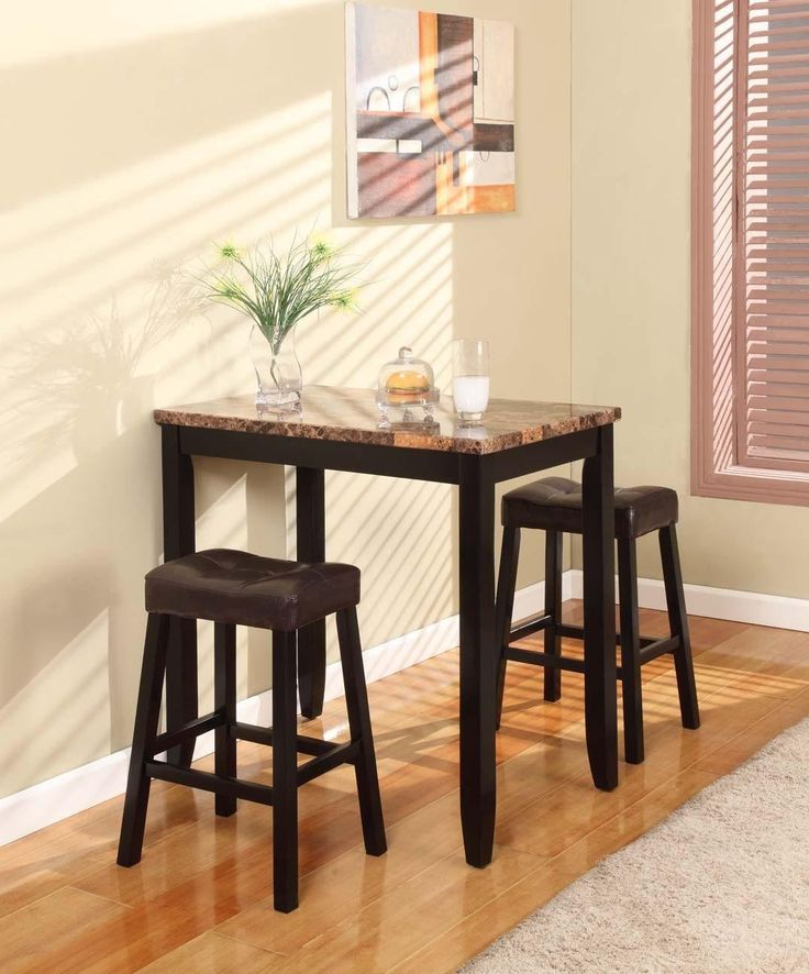 Tappahannock 3 Piece Counter Height Dining Sets Intended For Well Known 3 Piece Kitchen Table Set & (View 15 of 20)