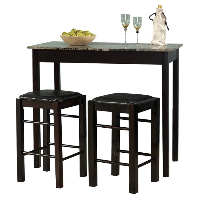 Tappahannock 3 Piece Counter Height Dining Sets Regarding Most Current Winston Porter Sheetz 3 Piece Counter Height Dining Set & Reviews (View 16 of 20)