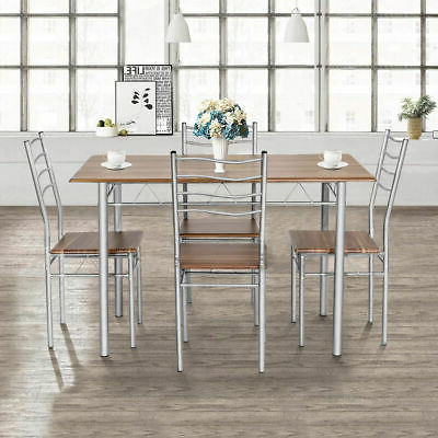 Tavarez 5 Piece Dining Sets With Regard To Popular Dining Set With Table 4 Chairs Stable Kitchen Furniture Diy 5 Pieces (Gallery 20 of 20)