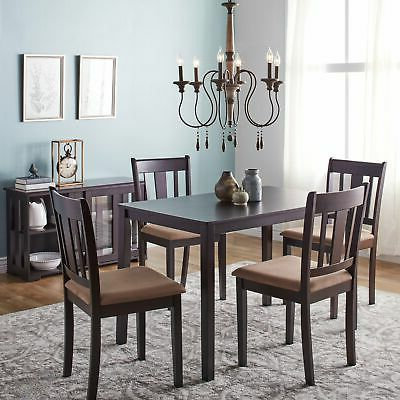 Tavarez 5 Piece Dining Sets With Well Liked Dining Set With Table 4 Chairs Stable Kitchen Furniture Diy 5 Pieces (View 14 of 20)
