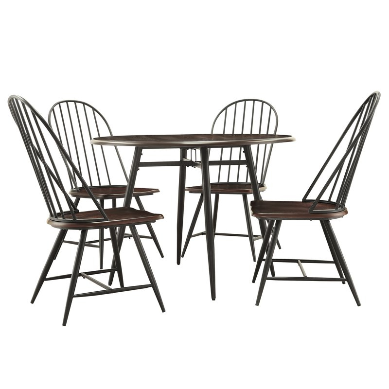 Telauges 5 Piece Dining Sets Inside Most Popular Hughley 5 Piece Dining Set & Reviews (View 19 of 20)