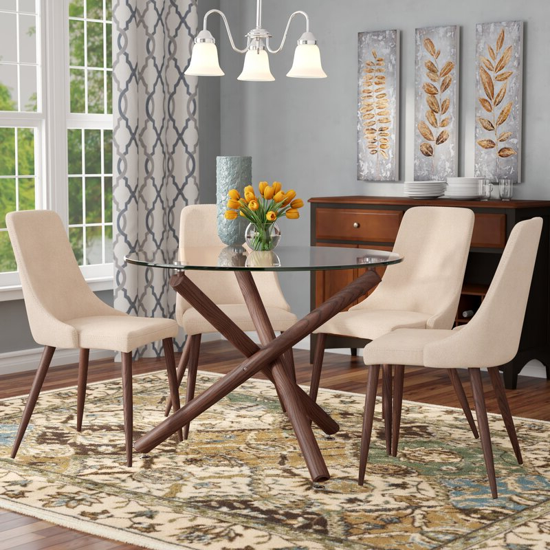Travon 5 Piece Dining Sets Pertaining To Current Corrigan Studio Helsdon 5 Piece Dining Set & Reviews (Gallery 12 of 20)