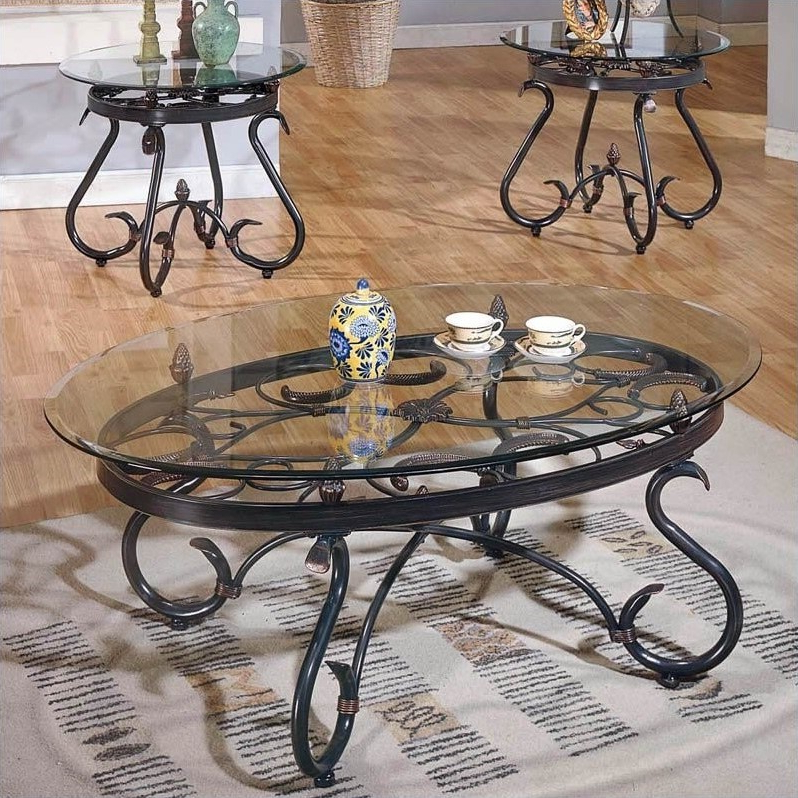 Trendy Anette 3 Piece Counter Height Dining Sets Pertaining To Steve Silver Company Lola 3 Piece Coffee Table Set In Dark Brown (Gallery 20 of 20)