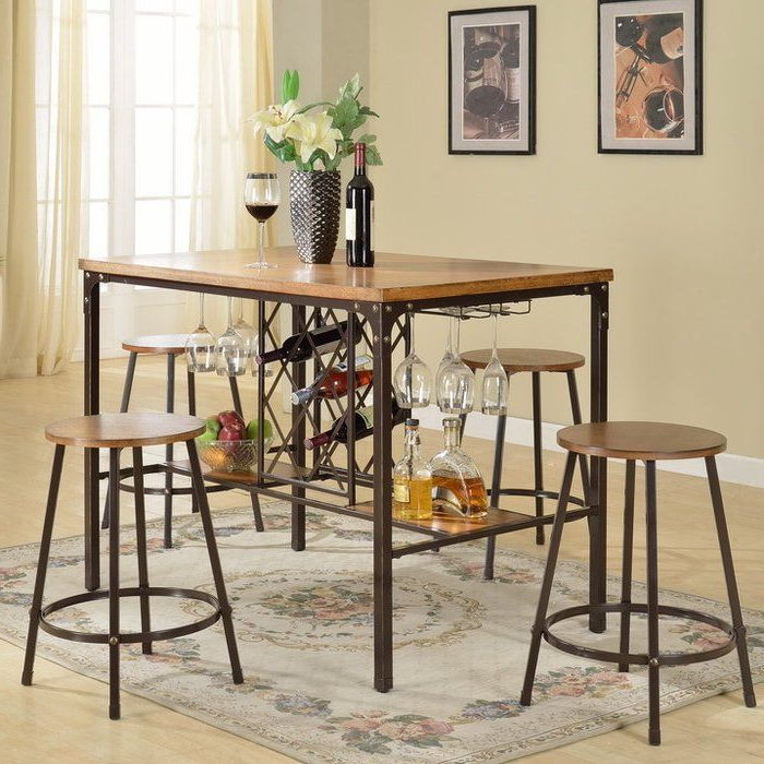 Trendy Calla 5 Piece Pub Table Set (View 8 of 20)