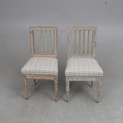 Trendy Gustavian Lindome Chairsephraim Stahl, 1795, Set Of 2 For Sale Intended For Ephraim 5 Piece Dining Sets (View 10 of 20)