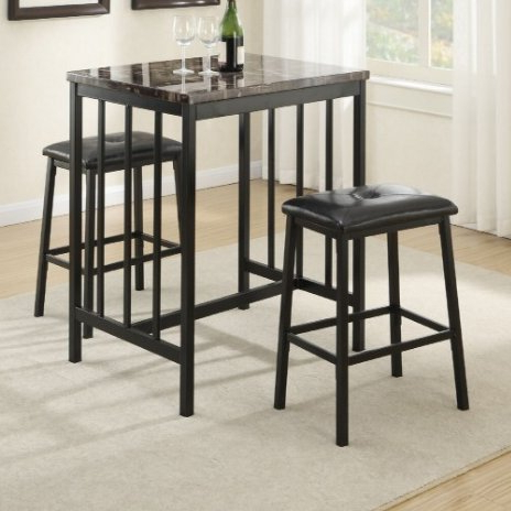 Featured Photo of Kernville 3 Piece Counter Height Dining Sets