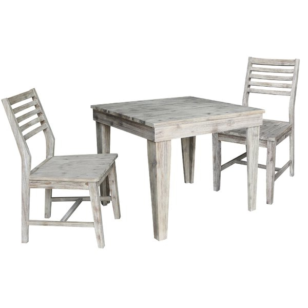 Trendy Taulbee 5 Piece Dining Sets Inside 3 Piece Dining Seteast West Furniture Herry Up On (View 9 of 20)
