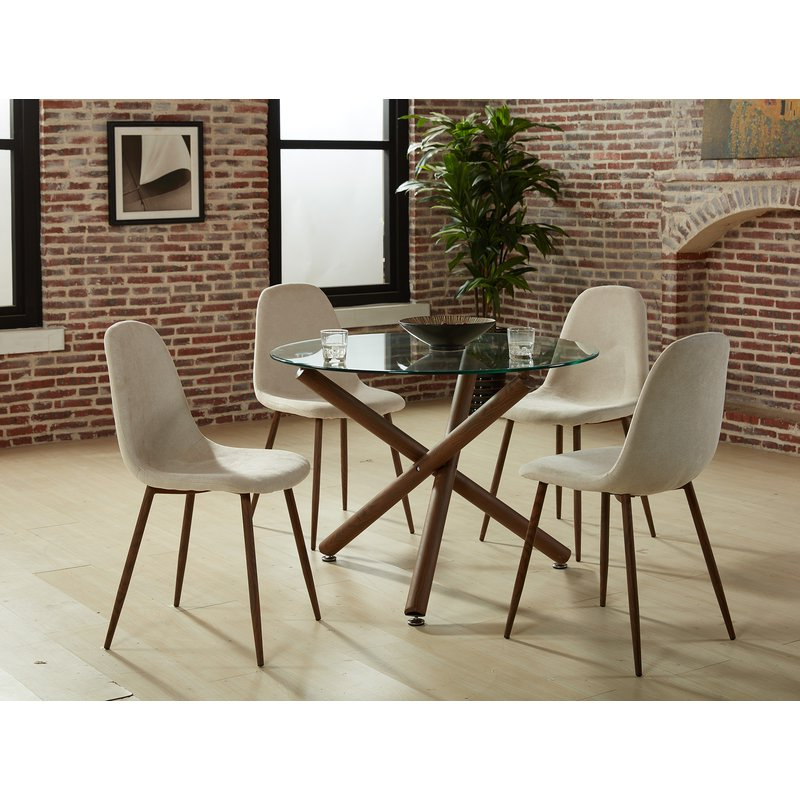 Trendy Travon 5 Piece Dining Sets For Corrigan Studio Helsdon 5 Piece Dining Set & Reviews (Gallery 13 of 20)
