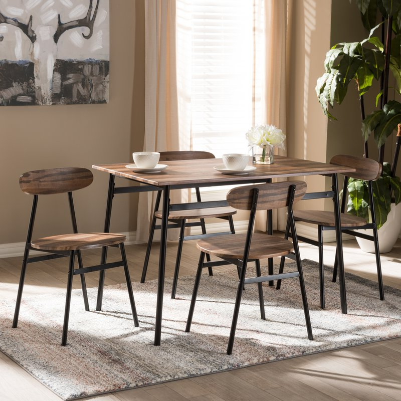 Trendy Union Rustic Telauges 5 Piece Dining Set & Reviews (View 2 of 20)