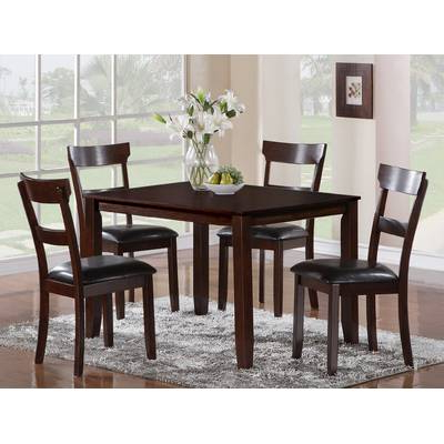 Trendy Wholesale Interiors Baxton Studio Keitaro 5 Piece Dining Set Regarding Baxton Studio Keitaro 5 Piece Dining Sets (Gallery 5 of 20)