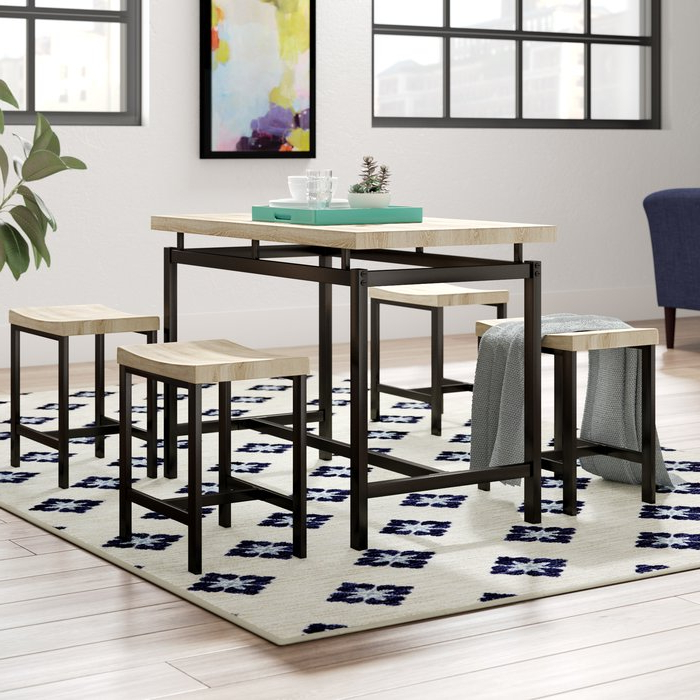 Trendy Wrought Studio Bryson 5 Piece Dining Set & Reviews (View 5 of 20)