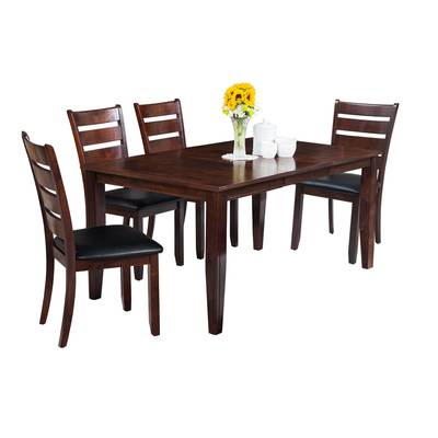 Ttpfurnish Aden 5 Piece Solid Wood Dining Set (View 16 of 20)