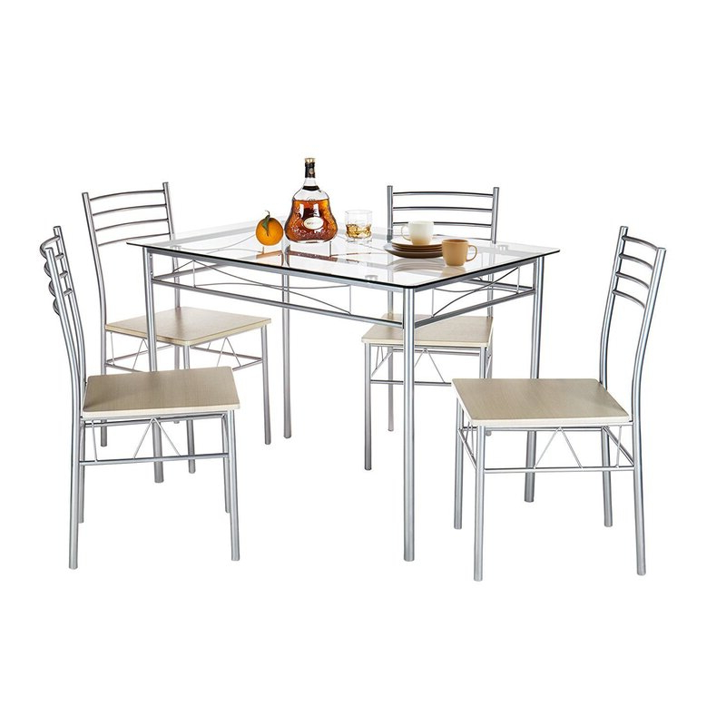 Turnalar 5 Piece Dining Sets In Well Liked Ebern Designs Liles 5 Piece Breakfast Nook Dining Set & Reviews (View 10 of 20)