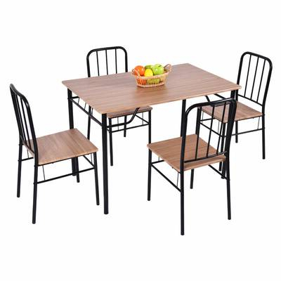 Union Rustic Castellanos Modern 5 Piece Counter Height Dining Set Pertaining To Well Liked Castellanos Modern 5 Piece Counter Height Dining Sets (Gallery 10 of 20)