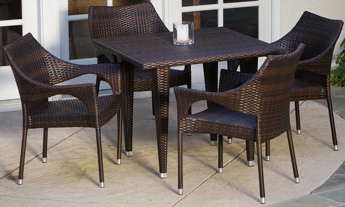[%Up To 9% Off On Outdoor Dining Set (5  Or 7 Pc.) | Groupon Goods Regarding Popular Delmar 5 Piece Dining Sets|Delmar 5 Piece Dining Sets Regarding Well Liked Up To 9% Off On Outdoor Dining Set (5  Or 7 Pc.) | Groupon Goods|2020 Delmar 5 Piece Dining Sets Regarding Up To 9% Off On Outdoor Dining Set (5  Or 7 Pc.) | Groupon Goods|Most Recent Up To 9% Off On Outdoor Dining Set (5  Or 7 Pc (View 1 of 20)