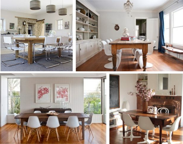 Wallflower 3 Piece Dining Sets Pertaining To Most Current Antique Table With Modern Chairs (View 15 of 20)
