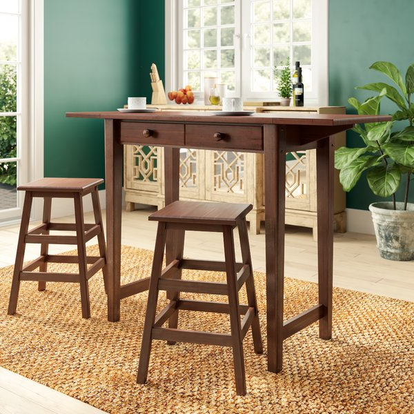 Featured Photo of Poynter 3 Piece Drop Leaf Dining Sets