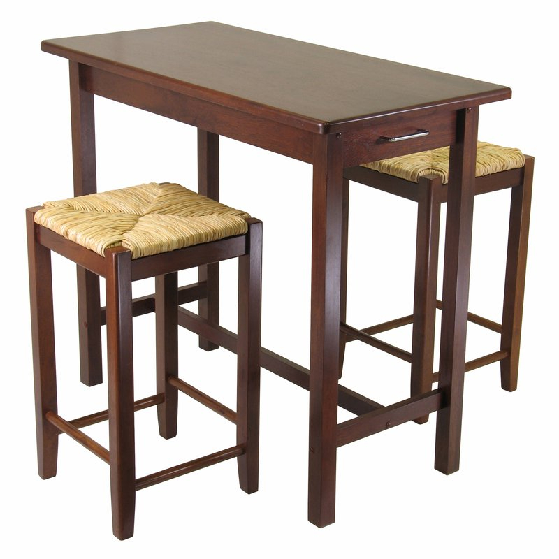 Featured Photo of Winsome 3 Piece Counter Height Dining Sets