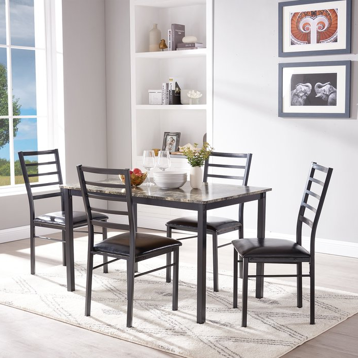 Featured Photo of Mukai 5 Piece Dining Sets