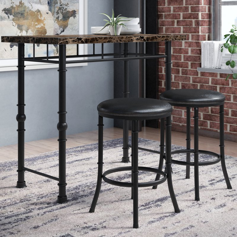 Featured Photo of Giles 3 Piece Dining Sets