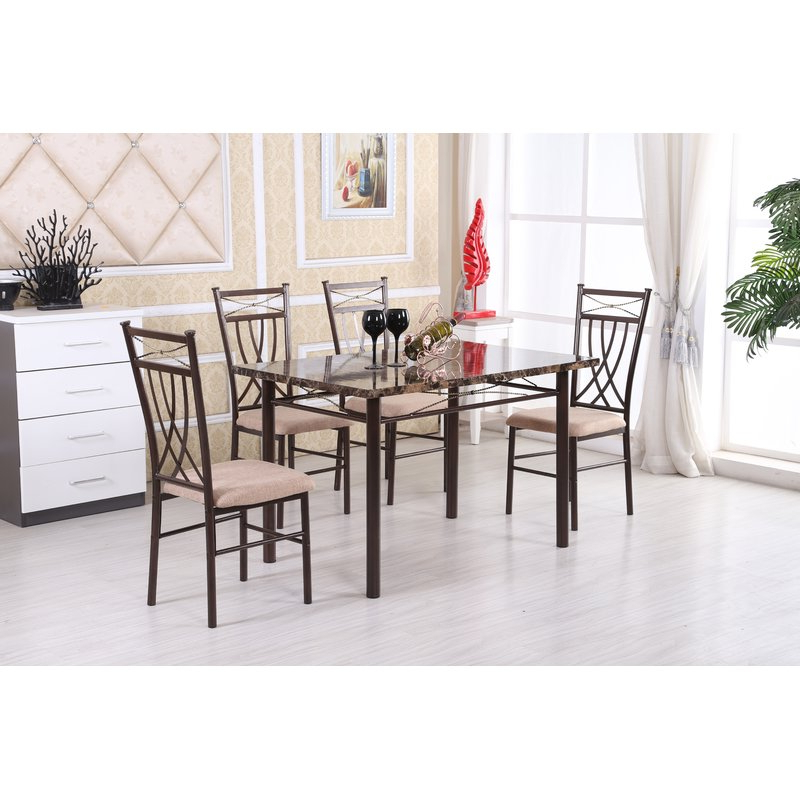 Wayfair For Most Recently Released Ganya 5 Piece Dining Sets (View 10 of 20)