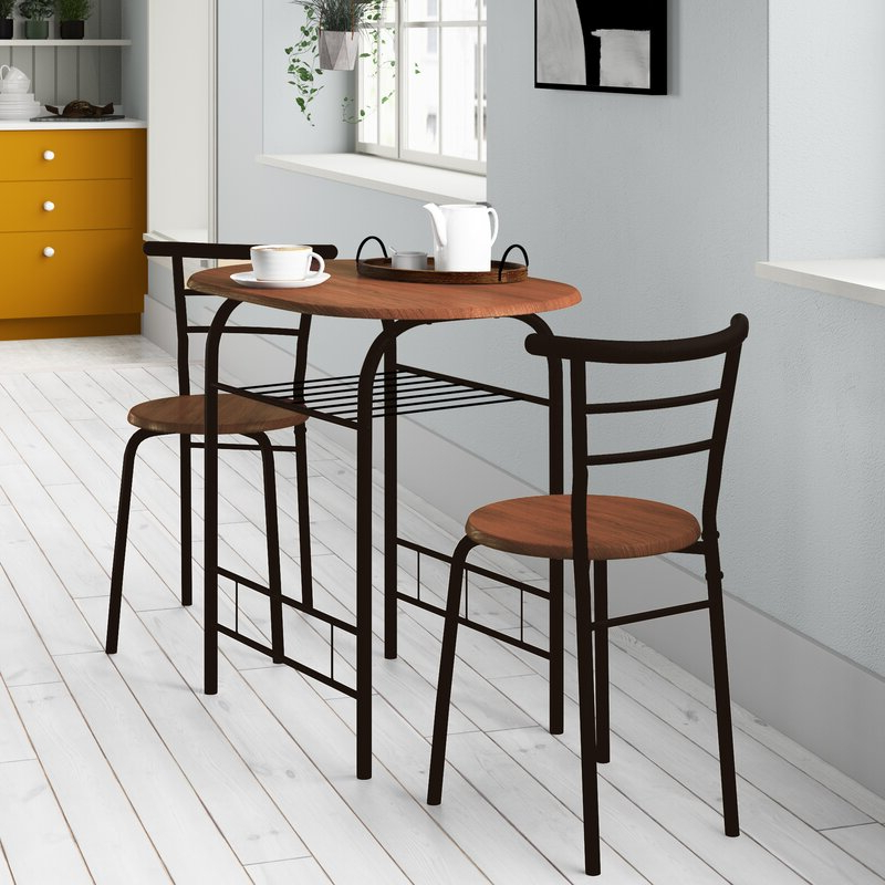 Wayfair For Popular Smyrna 3 Piece Dining Sets (View 15 of 20)