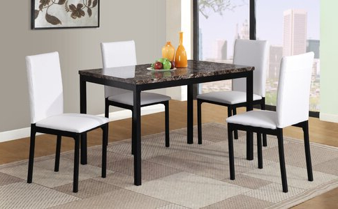 Wayfair Inside Well Liked Noyes 5 Piece Dining Sets (View 17 of 20)