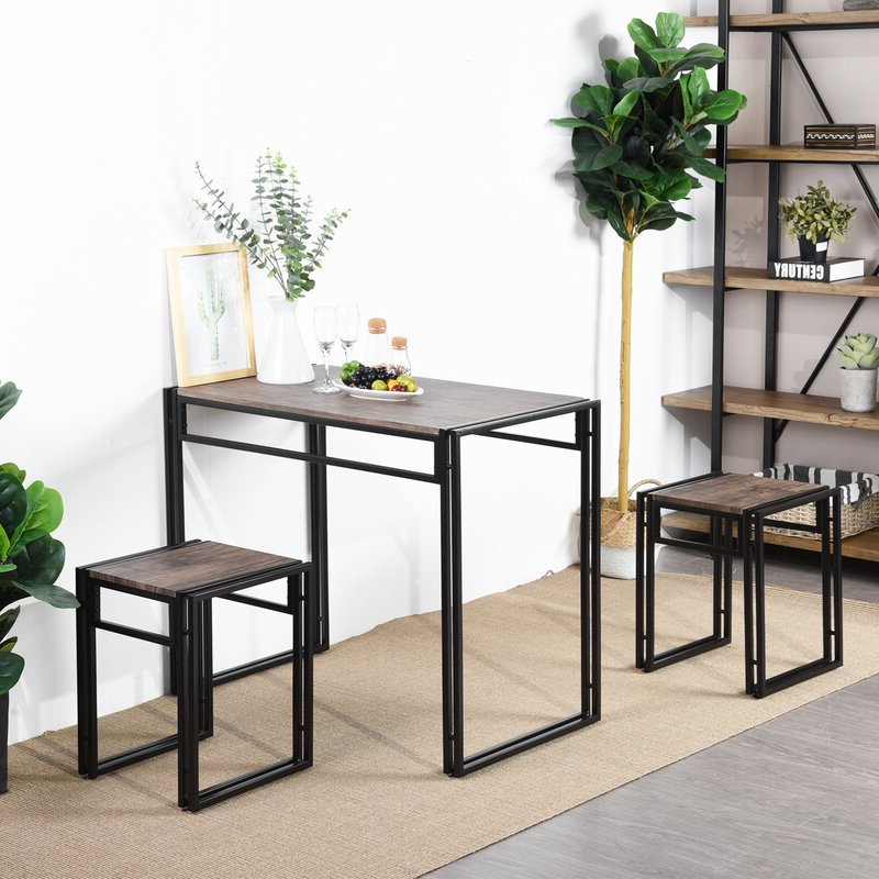 Wayfair Intended For Isolde 3 Piece Dining Sets (View 17 of 20)