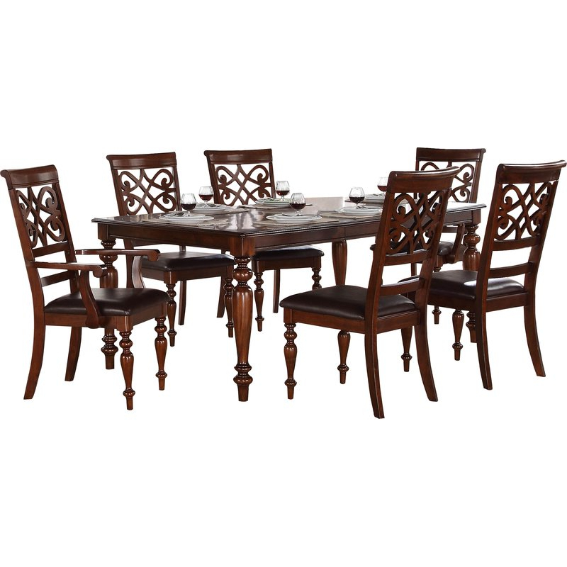 Wayfair Intended For Preferred Laconia 7 Pieces Solid Wood Dining Sets (Set Of 7) (Gallery 3 of 20)