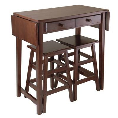 Wayfair Intended For Recent Poynter 3 Piece Drop Leaf Dining Sets (View 5 of 20)