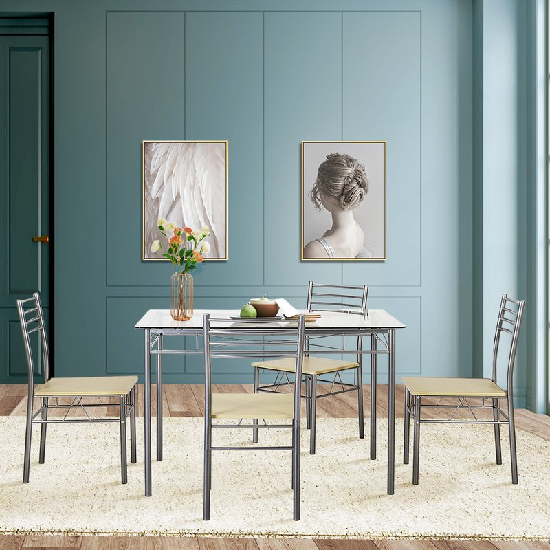 Wayfair Intended For Tavarez 5 Piece Dining Sets (View 2 of 20)