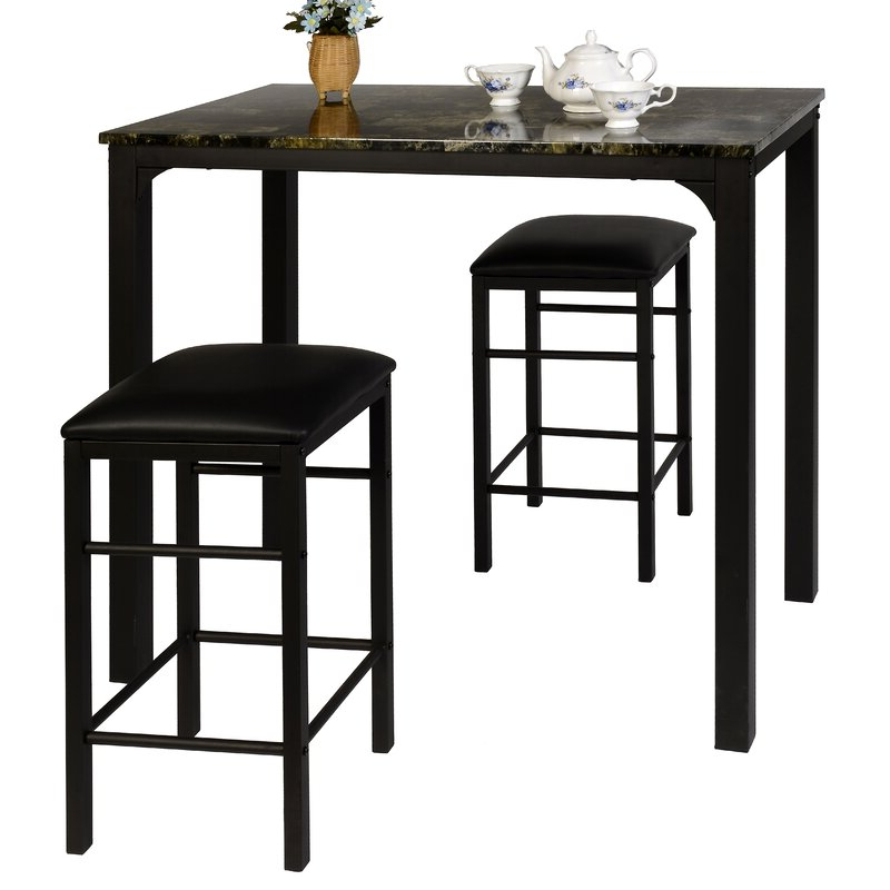 Wayfair Pertaining To 2020 Nutter 3 Piece Dining Sets (View 9 of 20)