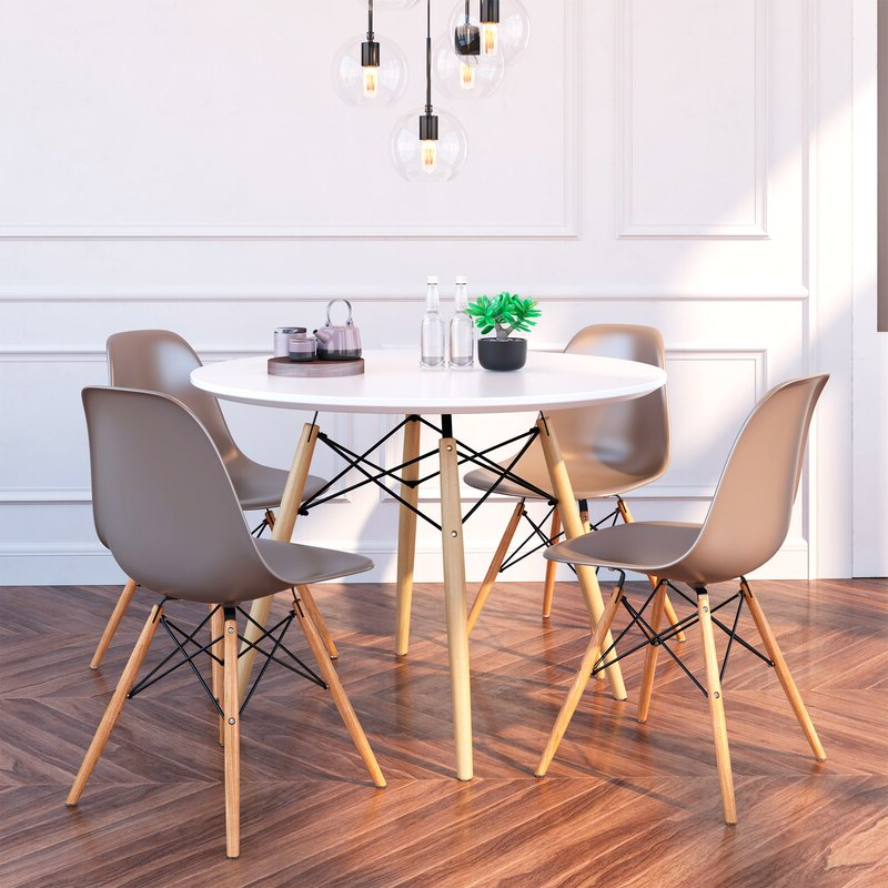 Wayfair Pertaining To Famous Goodman 5 Piece Solid Wood Dining Sets (set Of 5) (View 10 of 20)