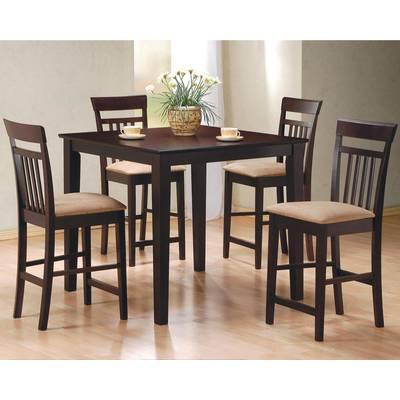 Wayfair Regarding Biggs 5 Piece Counter Height Solid Wood Dining Sets (set Of 5) (View 8 of 20)