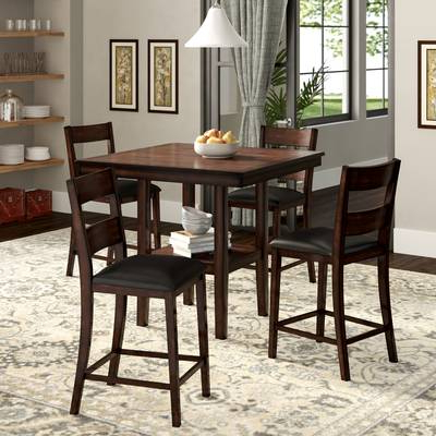 Wayfair Throughout Favorite Biggs 5 Piece Counter Height Solid Wood Dining Sets (set Of 5) (View 3 of 20)