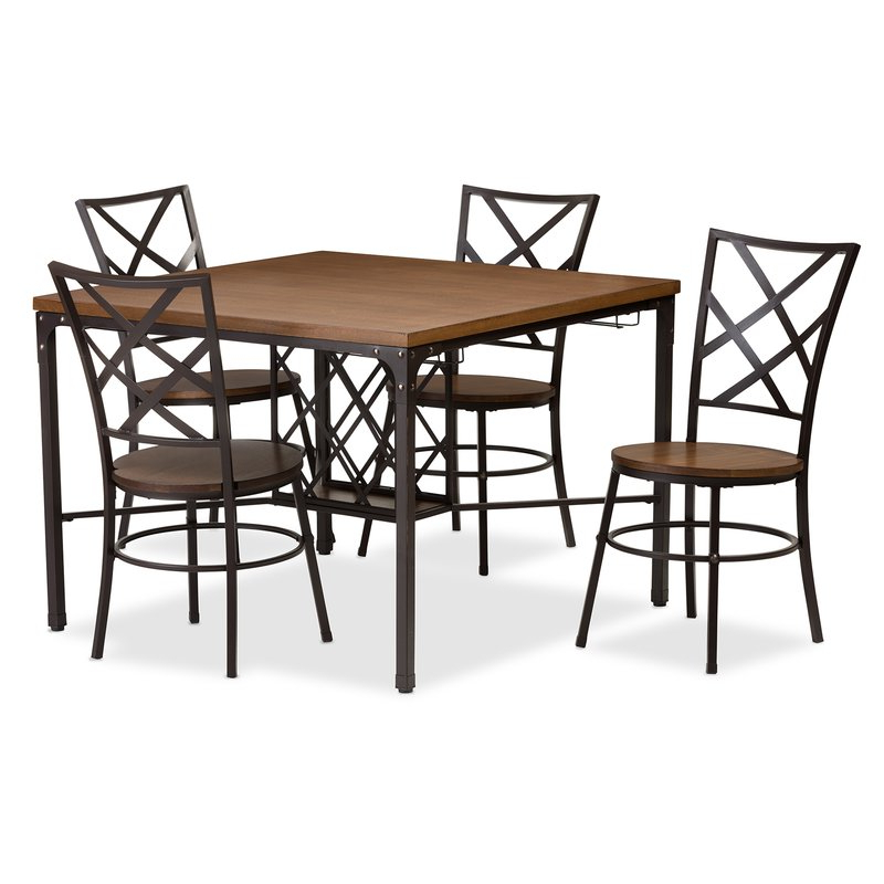 Wayfair Throughout Ganya 5 Piece Dining Sets (Gallery 17 of 20)
