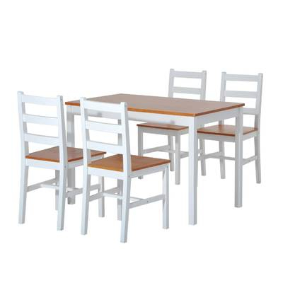 Wayfair Throughout Most Popular Yedinak 5 Piece Solid Wood Dining Sets (View 3 of 20)
