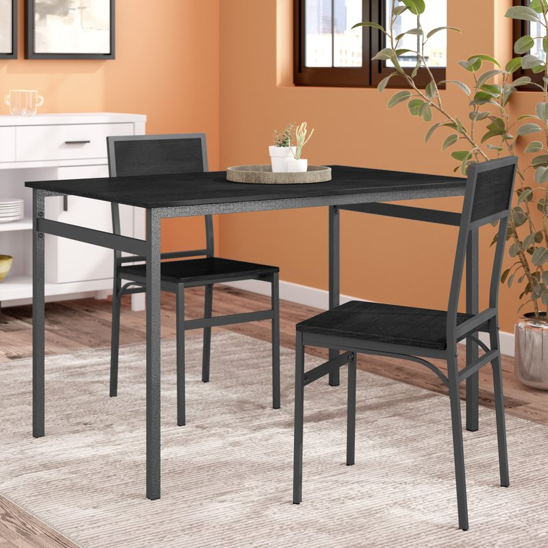 Wayfair Throughout Springfield 3 Piece Dining Sets (Gallery 1 of 20)