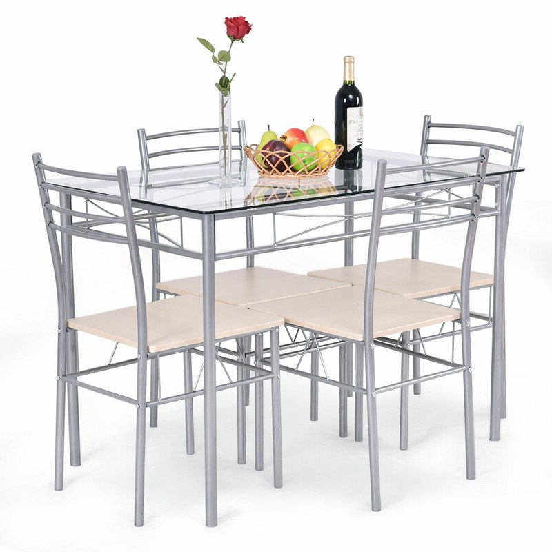 Wayfair Throughout Stouferberg 5 Piece Dining Sets (View 2 of 20)