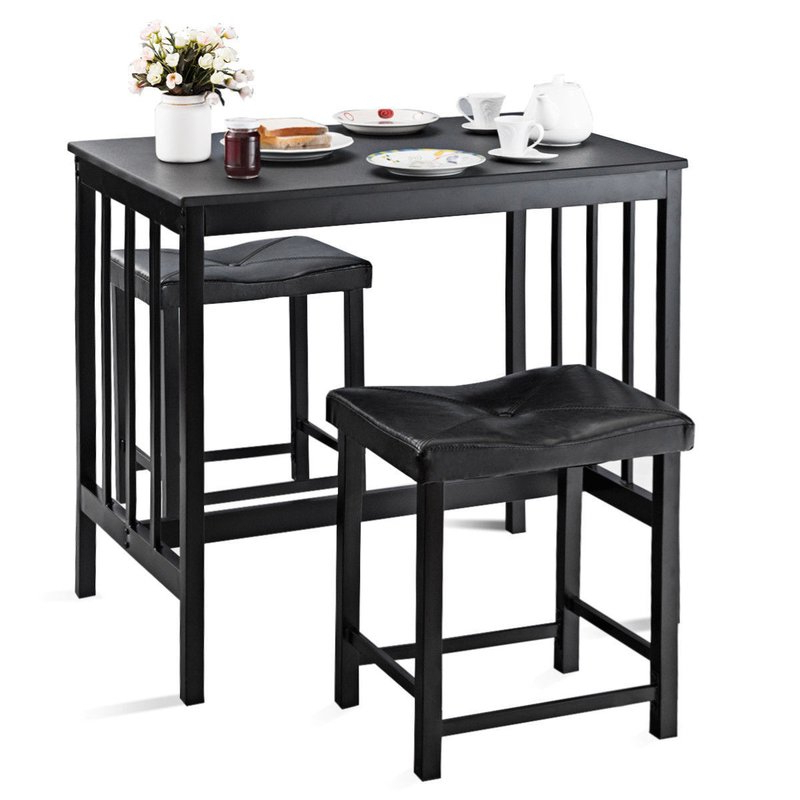 Wayfair With Miskell 3 Piece Dining Sets (Gallery 3 of 20)