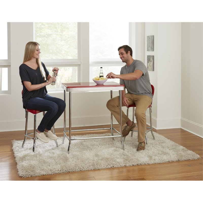 Wayfair With Regard To Bate Red Retro 3 Piece Dining Sets (View 18 of 20)
