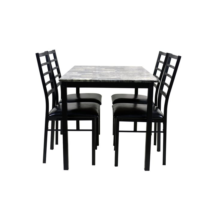 Wayfair With Widely Used Mukai 5 Piece Dining Sets (View 17 of 20)