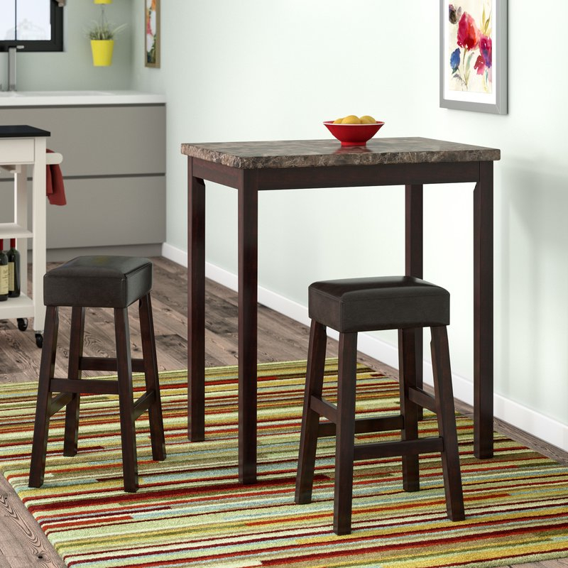 Wayfair Within Widely Used Askern 3 Piece Counter Height Dining Sets (set Of 3) (View 3 of 20)