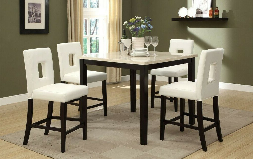 Well Known A&j Homes Studio Reagan 5 Piece Counter Height Dining Set Pertaining To Kernville 3 Piece Counter Height Dining Sets (View 19 of 20)