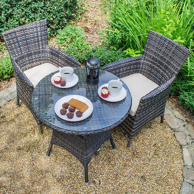 Well Known Amelia 2 Seat Bistro Set – Brown At Homebase.co.uk Inside Kinsler 3 Piece Bistro Sets (Gallery 20 of 20)