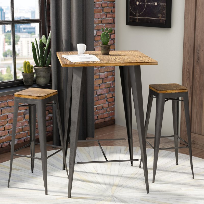 Well Known Bar Table Set – Summervilleaugusta Inside Crownover 3 Piece Bar Table Sets (View 9 of 20)