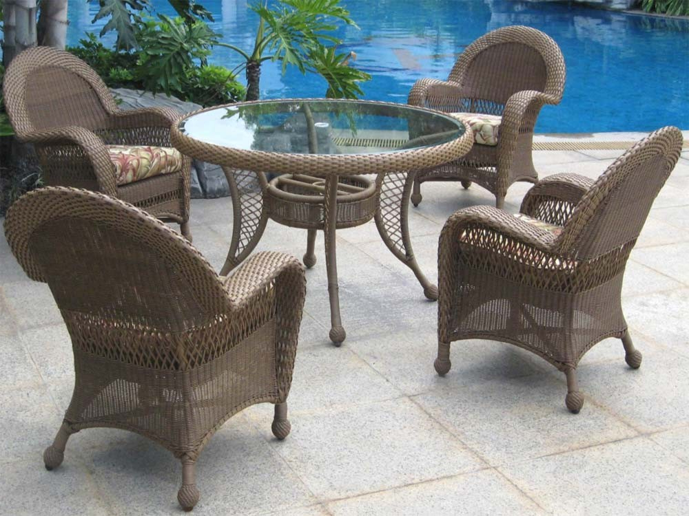 Well Known Delmar 5 Piece Dining Sets Intended For Longboat Key Casa Del Mar Wicker 5 Piece Dining Set – Wicker (View 18 of 20)